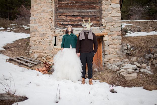 ©Ingrid Lepan Photographe - seance apres le mariage a la montagne - La mariee aux pieds nus  -25