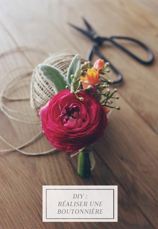 ©La mariee aux pieds nus - DiY realiser une boutonniere