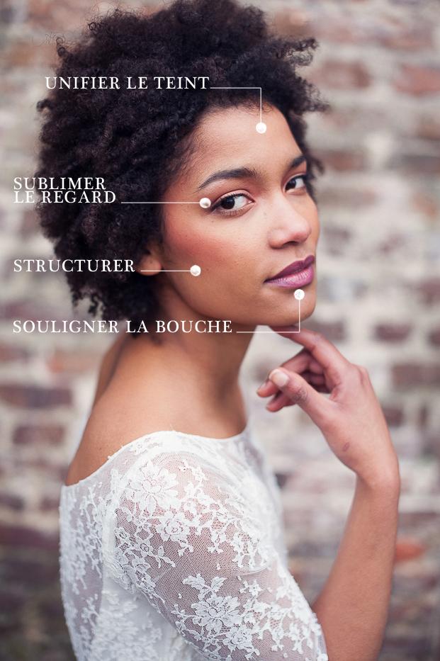 ©Marion Heurteboust - Sublimer les peaux metissees - Conseils beaute pour mariee a la peau metissee - La mariee aux pieds nus