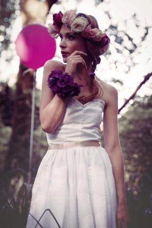 La femme gribouillage - Violette Tannenbaum - Robes de mariee - Collection 2014 - La mariee aux pieds nus