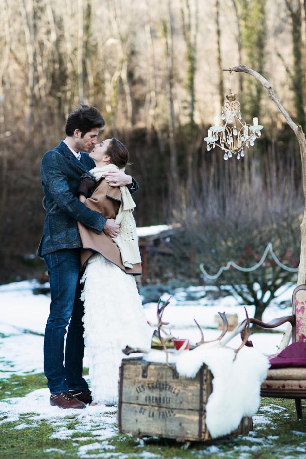 ©Amandine Crochet - Un pique nique dans la neige - Majenia - La mariee aux pieds nus