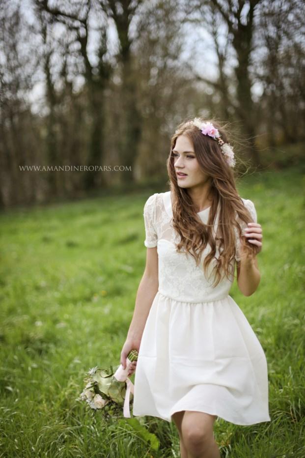 ©Amandine Ropars - Une mariee romantique - La mariee aux pieds nus