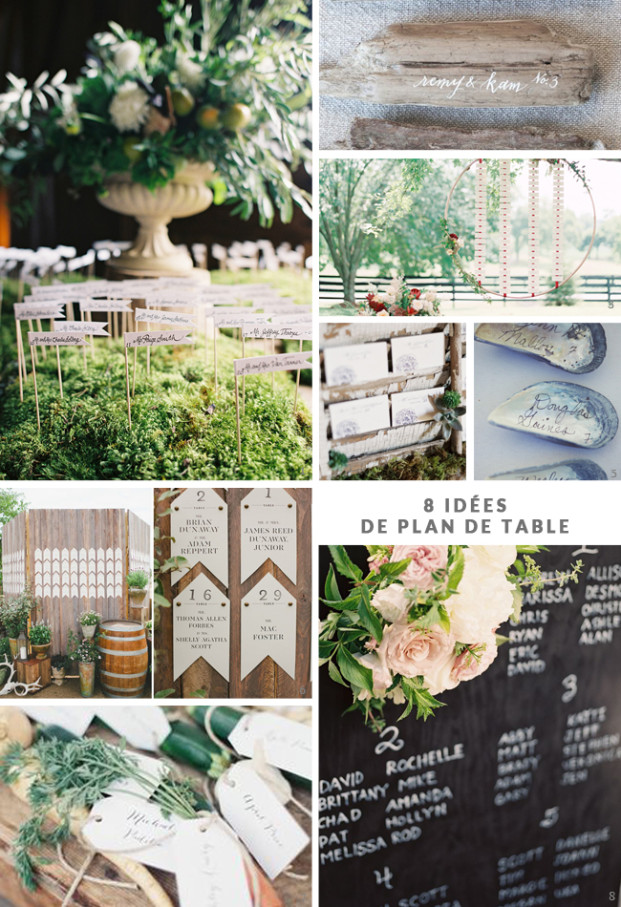 La mariee aux pieds nus - 8 idees de plan de table de mariage