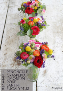 Bouquet de mariee multicolore par Madame Artisan fleuriste - La mariee aux pieds nus