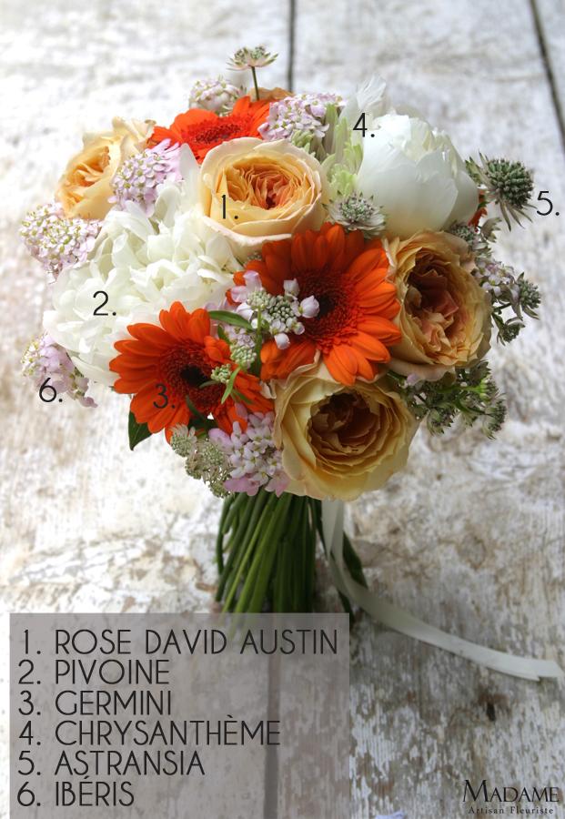 Bouquet de mariee par Madame Artisan fleuriste - La mariee aux pieds nus