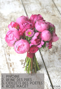 Bouquet de mariee rose fushia par Madame Artisan fleuriste - La mariee aux pieds nus