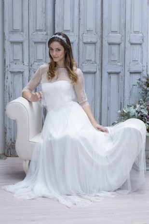 La mariee aux pieds nus - Marie Laporte - Creation de robes de mariee - collection 2014 - CELESTE