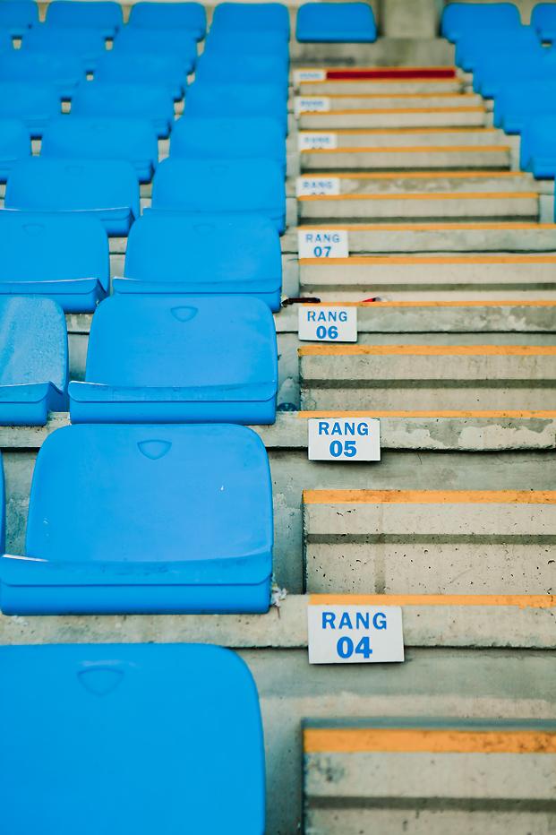 ©Elena Fleutiaux / Séance engagement au stade de rugby de Perpignan