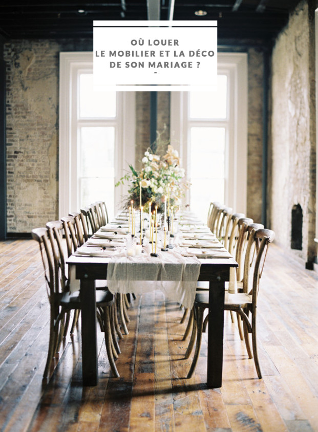 Jessica Lorren - Ou louer le mobilier et la decoration de son mariage - La mariée aux pieds nus
