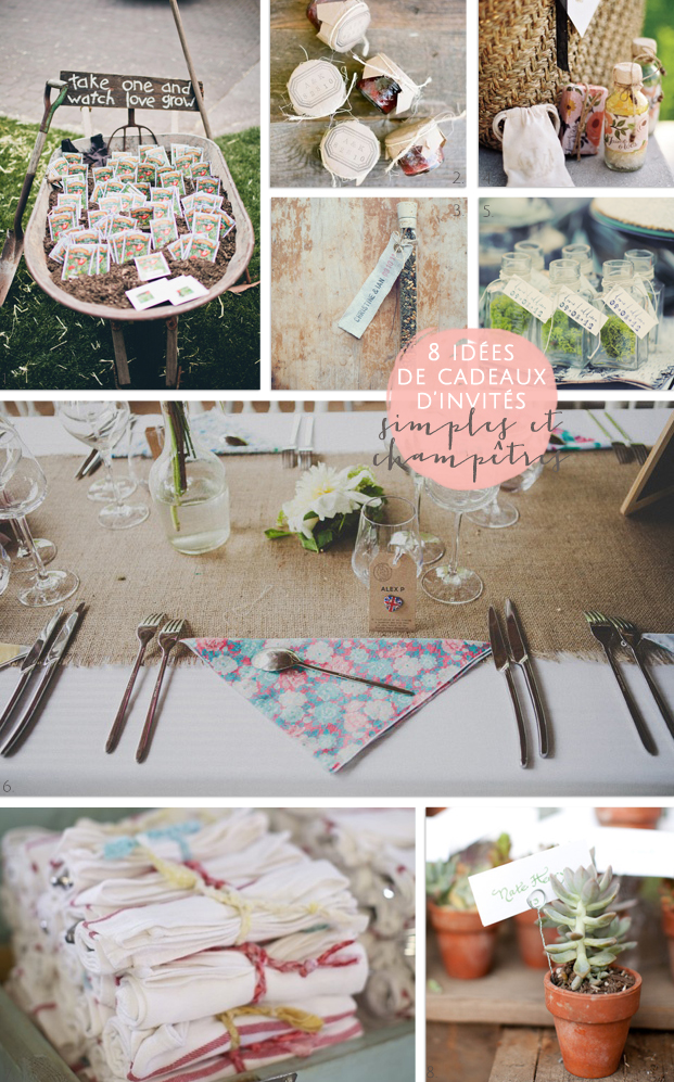 La mariee aux pieds nus - 8 idees de cadeaux d'invites simples et champetres