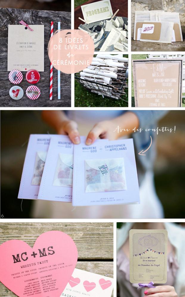 La mariee aux pieds nus - 8 idees de livrets de ceremonie
