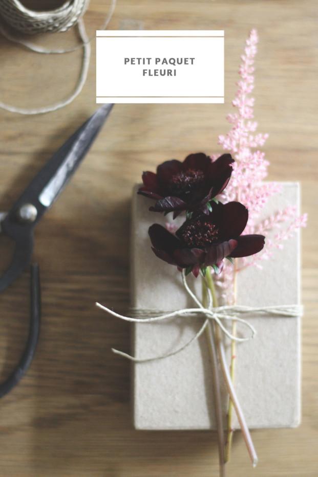 La mariee aux pieds nus - DiY - Idee pour decorer les paquets cadeaux avec des fleurs