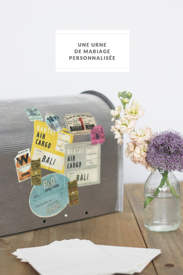 La mariee aux pieds nus - DiY - Personnaliser son urne de mariage