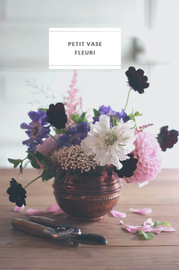 La mariee aux pieds nus - DiY - Un vase fleuri - Technique du pique fleurs