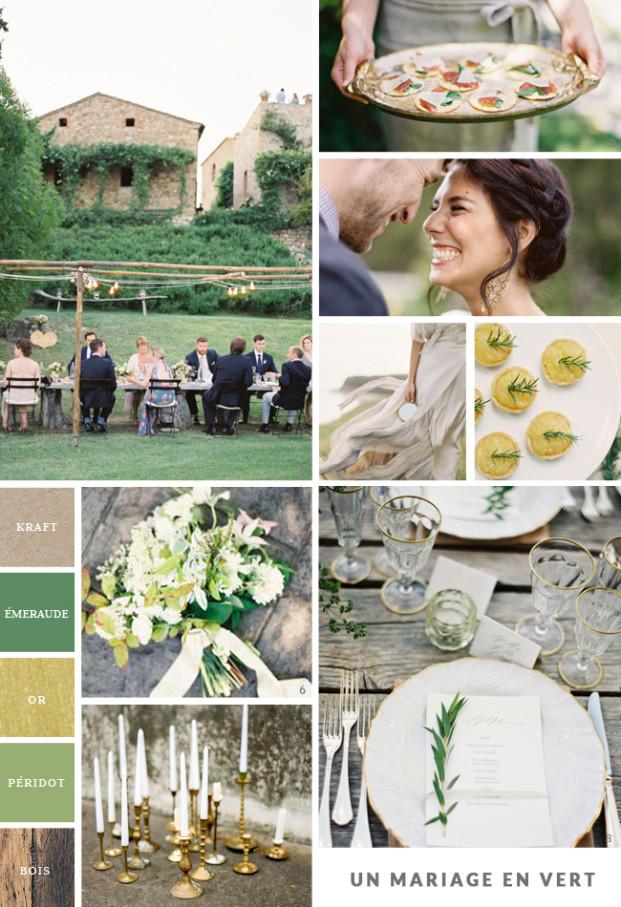La mariee aux pieds nus - Carnet d inspiration - Mariage campagne chic en vert et or