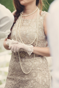 Anne Claire Brun - Un mariage pastel ambiance annee 20 - Theme voyage - La mariee aux  pieds nus