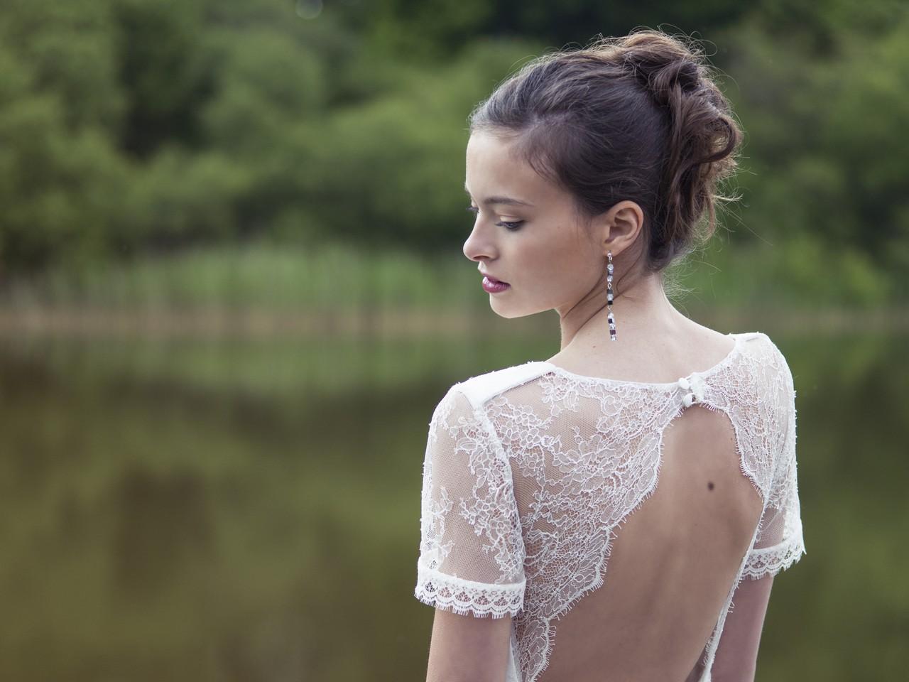 Robe de mariée en dentelle française