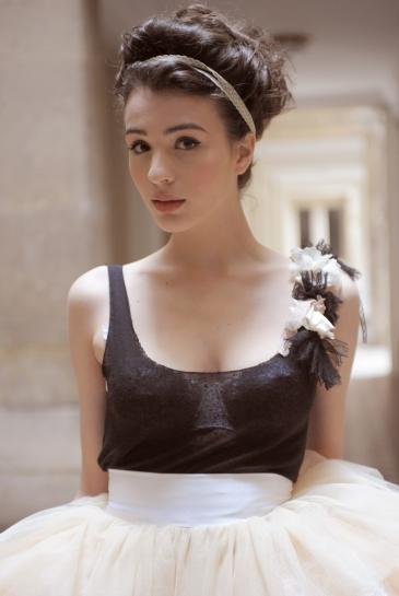 Meryl Suissa - Robe de mariee courte - La mariee aux pieds nus