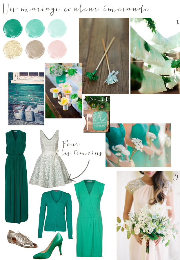 carnet d inspiration - mariage en vert emeraude - La mariee aux pieds nus