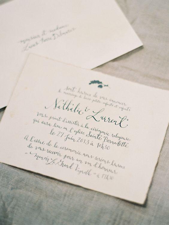 Comment rédiger vos faire-part de mariage - Un article à lire sur le blog mariage La mariée aux pieds nus