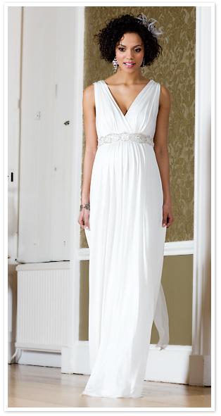 Une robe de mariée pour femme enceinte La