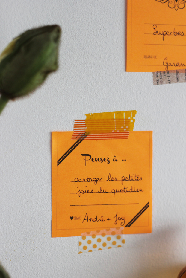La mariee aux pieds nus - Un livre d or avec des post it - Pepper and Joy 8