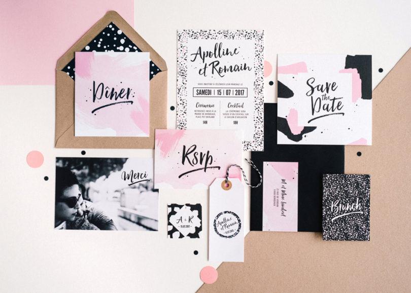 Collection de faire part - My dear paper - La mariée aux pieds nus - Photos : Chloé lapeyssonnie