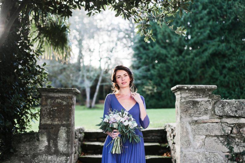 Une mariée en bleu