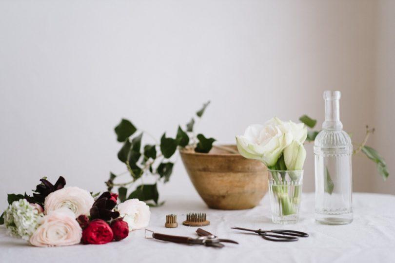 Chloe Lapeyssonnie - DiY - Un centre de table carmin esprit jardin - La mariee aux pieds nus