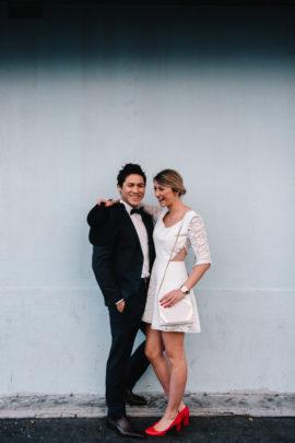 Robe mariée civile par Mademoiselle de Guise - A découvrir sur le blog mariage www.lamarieeauxpiedsnus.com - Photos : Chloé Lapeyssonnie