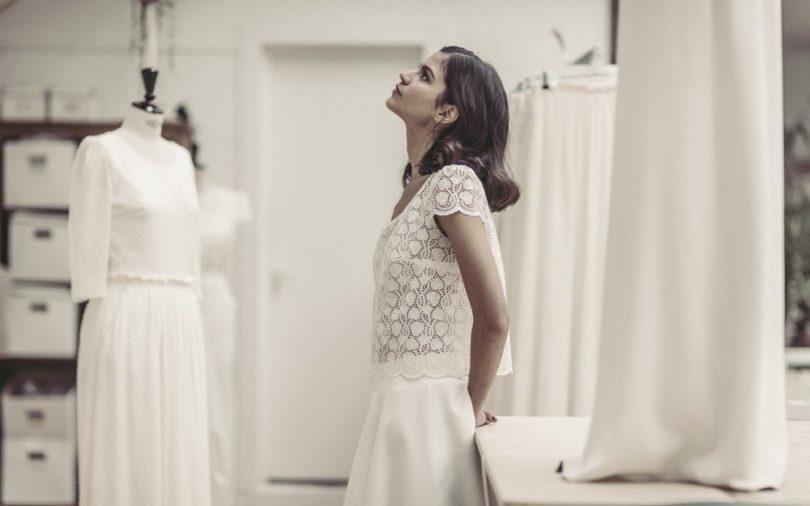Robe de mariée courte , Cérémonie civile , Collection 2017 , Laure de  Sagazan , A
