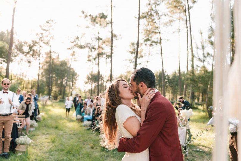 Un mariage simple et décontracté dans les Landes - Photographe : Chloé Lapeyssonnie - Blog mariage : La mariée aux pieds nus