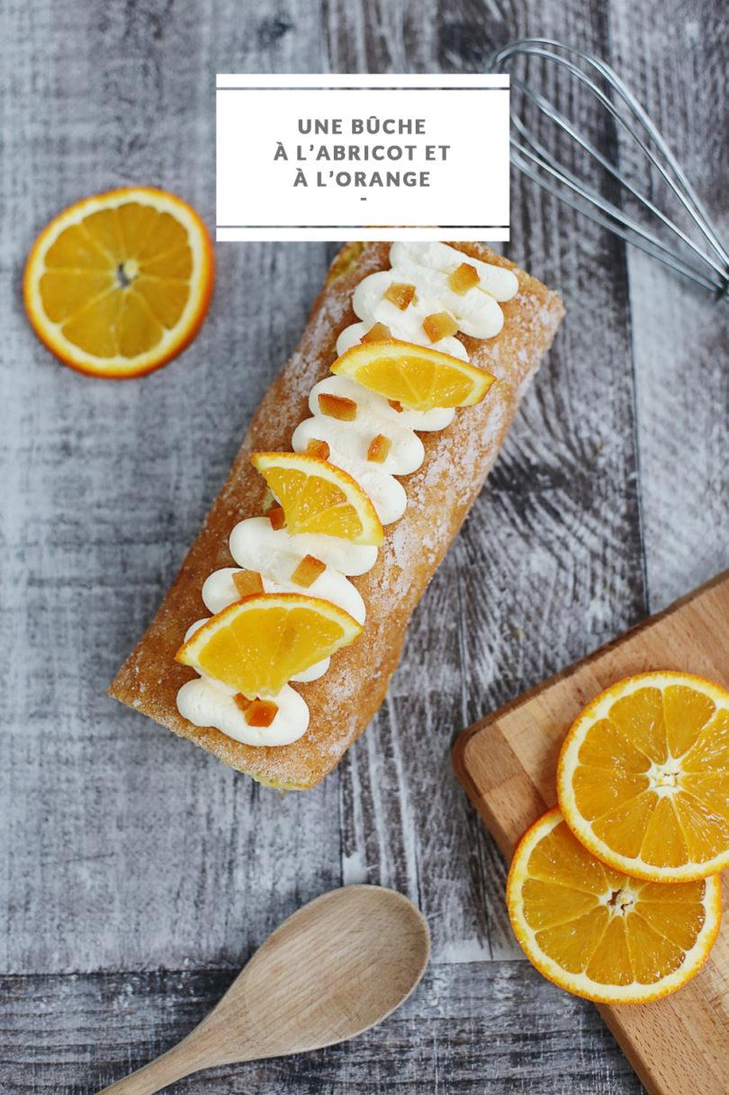recette, buche, abricot, orange
