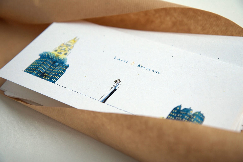 Atelier Marie R - Faire part de mariage aquarelle - Blog mariage La mariée aux pieds nus