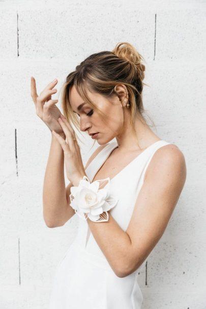 Be in Bloom - Accessoires de mariée en papier par By Romance et Marjorie Colas - Photos : Yann Audic Lifestories Wedding - Blog : La mariée aux pieds nus