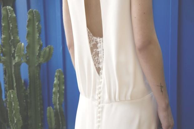 Elise Hameau - Robes de mariée - Collection capsule Paris -San Francisco - Photo céline Marks - La mariee aux pieds nus