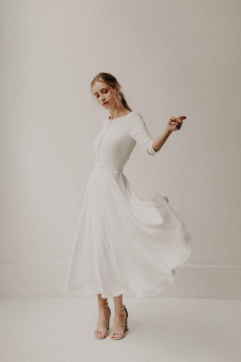 Camille Marguet - Robes de mariée - Collection mariage civil 2020 - Photos : Baptiste Hauville - Blog mariage : La mariée aux pieds nus