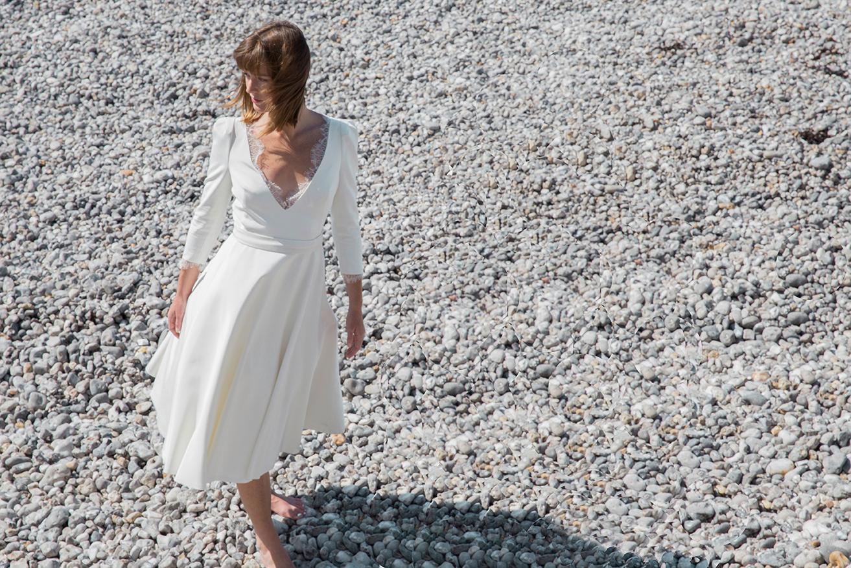 Elodie Michaud - Robes de mariée - Blog mariage : La mariée aux pieds nus