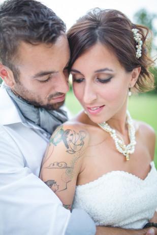 ©bubblerock - Shooting inspiration - Un mariage au chateau - La mariee aux pieds nus