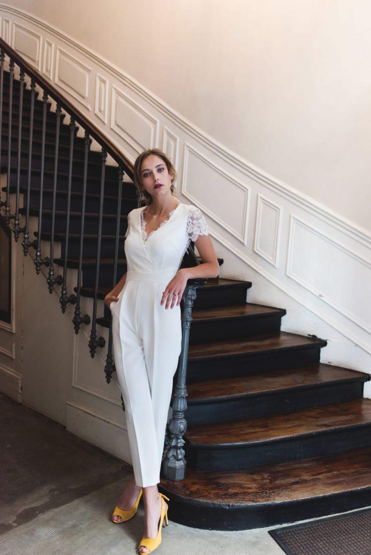 Harpe - COMBINAISON - 630€ - Robes de mariée - Collection mariage civil 2018 - Blog mariage : La mariée aux pieds nus