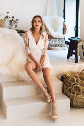 Harpe - COMBISHORT 380€ - Robes de mariée - Collection mariage civil 2018 - Blog mariage : La mariée aux pieds nus