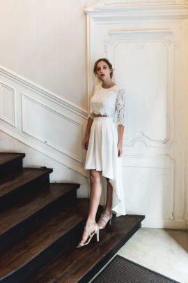 HARPE - BANGALORE 240€ et JUPE 290€ - Robes de mariée - Collection mariage civil 2018 - Blog mariage : La mariée aux pieds nus