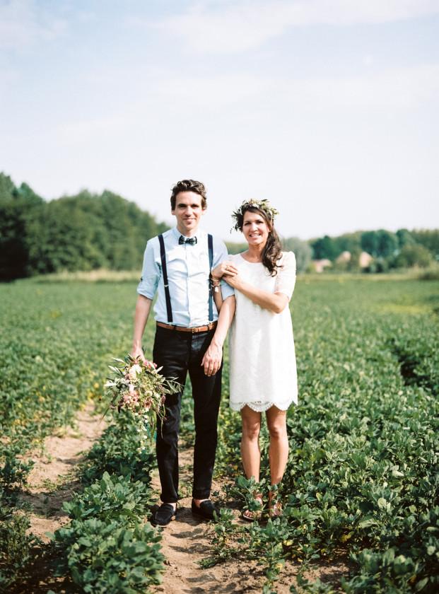 un mariage simple et champtre - Tenue Mariage Champetre