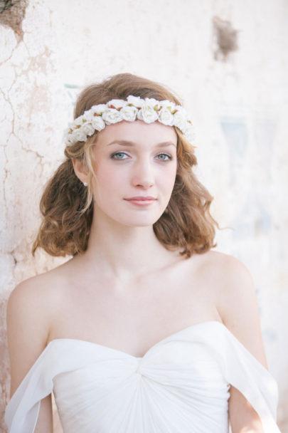 Alex Tome - La mariee aux pieds nus - English Garden - Accessoires de mariée - Headband de mariée à fleurs - Rosie