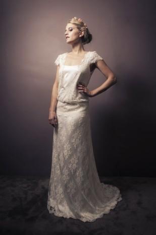©Jane da Silva - Stephanie Wolff  - Robes de mariee sur mesure - Collection 2014 - La mariee aux pieds nus