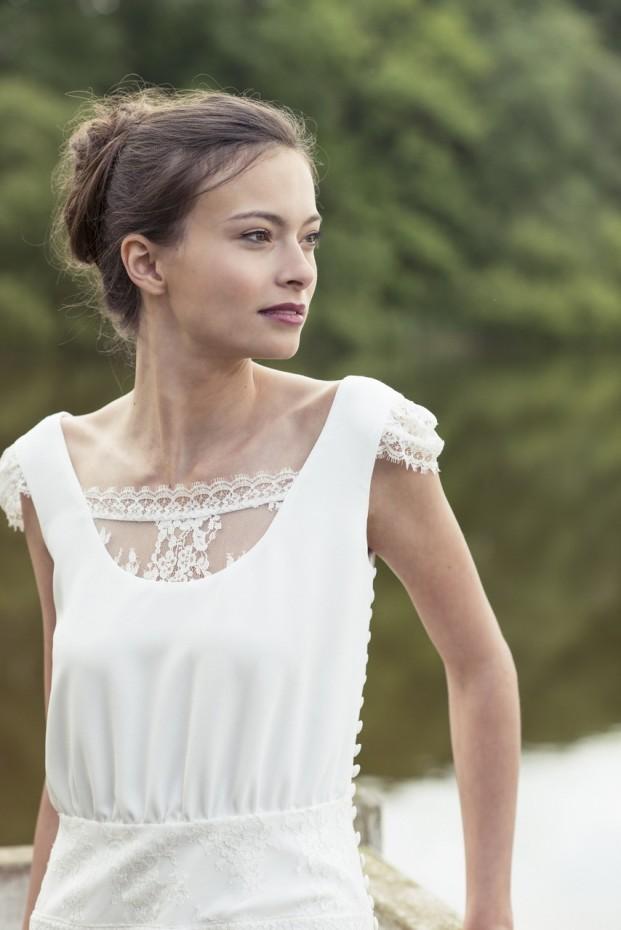 Lambert Creations - Robes de mariee collection 2015 - La mariee aux pieds nus - modele Léopoldine