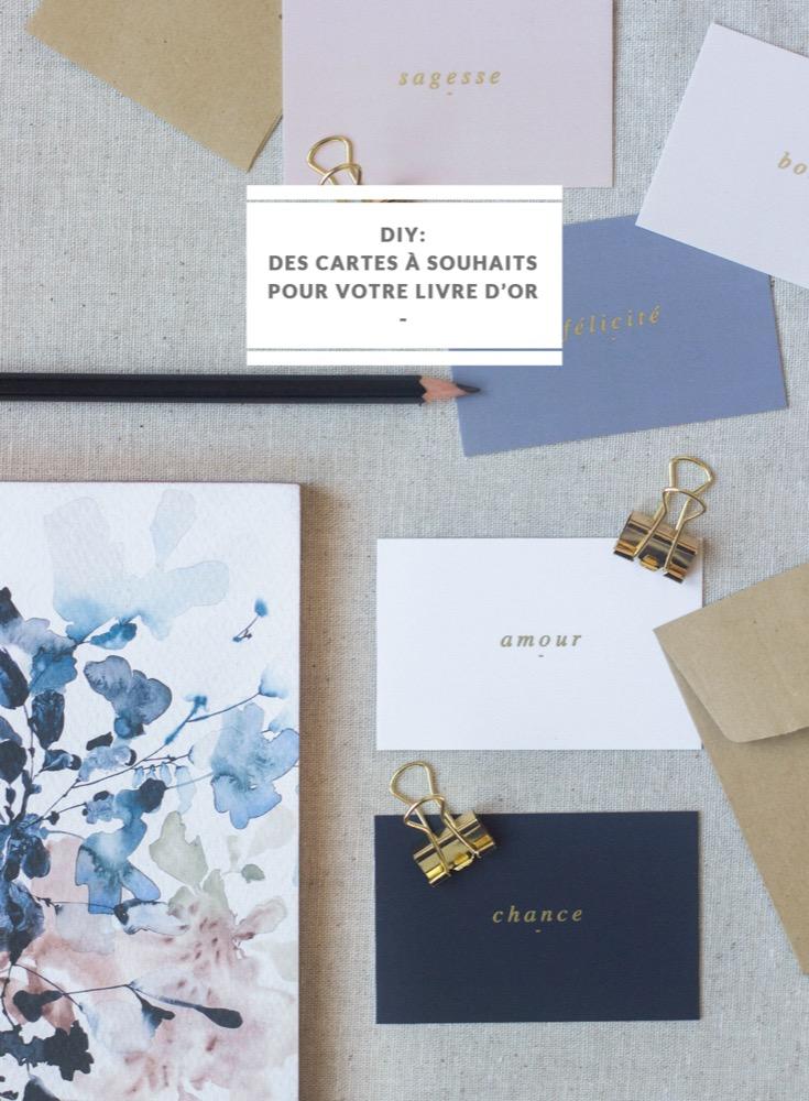 DiY : Cartes à souhaits pour votre livre d'or de mariage - La mariée aux pieds nus