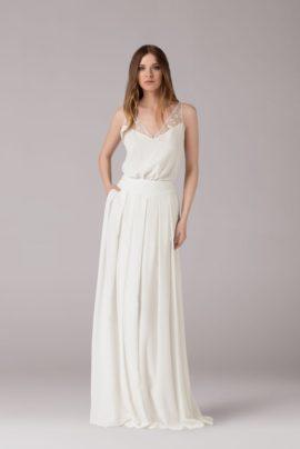 La mariée aux pieds nus - Anna Kara, robes de mariée - Collection 2015 - Modele Sarah