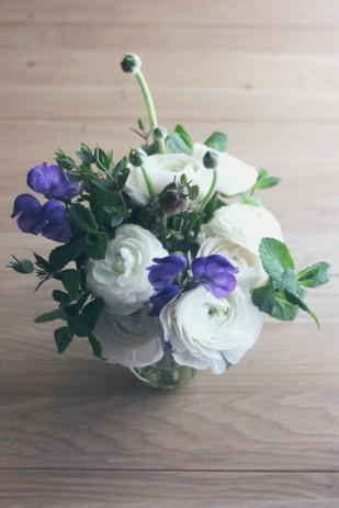 La mariee aux pieds nus - Bouquet de renoncules