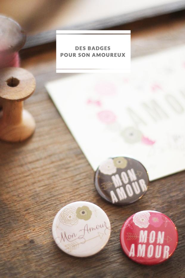 La mariee aux pieds nus - DiY - Des badges poour son amoureux
